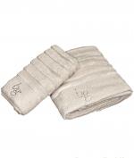 Полотенца хлопковые Deluxe. Комплект полотенец для лица и рук Natasha Бежевый от Blugirl art.78717-01
