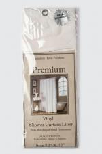 Шторки для душа и ванны текстильные. Защитная шторка Premium 4 Gauge Bone слоновая кость