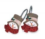 Новый Год. Набор из 12 крючков для шторки Traditional Snowman