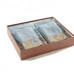 Полотенца хлопковые Deluxe. Комплект махровых полотенец (голубой)