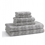 Текстиль для детей: полотенца, халаты, постельное бельё и др.. Полотенце для рук Wavy Hippo Grey мини BWV-172-HPG