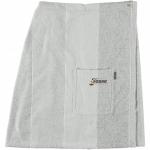 Халаты Одежда для бани и сауны.          Халат-юбка для сауны 9065. Серый