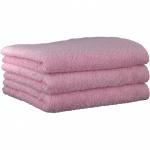 "Хлопковые полотенца.          Полотенце CAWO ""Life Style"" 7007 Светло-розовый"