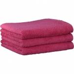 """Хлопковые полотенца.          Полотенце CAWO """"Life Style"""" 7007 Малиновый"""