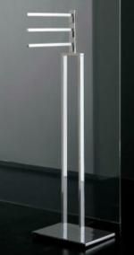 Стойки напольные с бумагодержателем, полотенцедержателем, ёршиком и высокие. Стойка  с 3-мя полотенцедержателями LT220.013