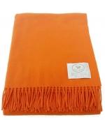 Пледы Покрывала Deluxe. Плед Eolo (75% лана, 25% кашемир) Оранжевый 140х180см. от Co.Bi