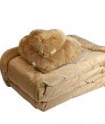 Декоративные подушки Deluxe. Декоративная подушка Сердце Большое (46х46) и Маленькое (25х25) Bluvi Медовый от Blumarine art. 71361-71362