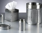 Аксессуары для ванной настольные. Basketweave Silver стальные настольные аксессуары для ванной