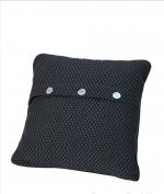 Декоративные подушки. Декоративная подушка Fresno (Hasir) (40х40) Синий от Casual Avenue