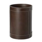 Вёдра с педалью Дровницы Вёдра. Ведро кожаное круглое Rotondo waste paper basket by GioBagnara