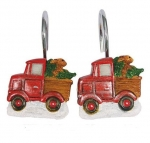 Новый Год. Набор из 12 крючков для шторки Truckin With Santa