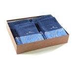 Полотенца хлопковые Deluxe. Комплект махровых полотенец (синий)
