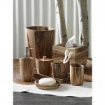 Аксессуары для ванной настольные. Acacia Wood деревянные настольные аксессуары для ванной