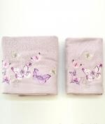 Полотенца хлопковые Deluxe. Комплект полотенец для лица и рук Castadiva Сиреневый от Blugirl art.78672-16