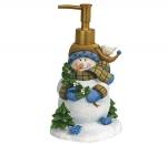 Новый Год. Дозатор для жидкого мыла Blue Snowmen голубой