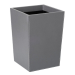 Вёдра с педалью Дровницы Вёдра. Ведро кожаное Gio waste paper baskets by GioBagnara graphite