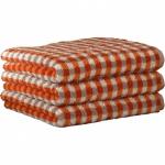 "Хлопковые полотенца.          Полотенце CAWO ""Allover"" 531 Оранжевый"