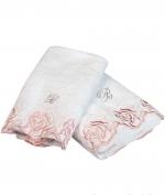 Полотенца хлопковые Deluxe. Комплект полотенец для лица и рук Marielle Розовый от Blumarine art.78638-02