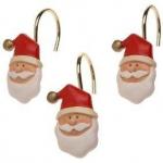 Новый Год. Набор из 12 крючков для шторки Santa Claus