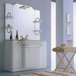 Мебель для ванной комнаты. Eurolegno Hollywood Композиция №55 Комплект мебели 130 см, цвет: глянцевый белый