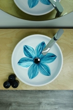 Раковины. Azzurra Fleur FLE 200P Раковина накладная