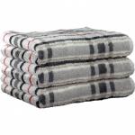 """Хлопковые полотенца.          Полотенце CAWO """"Cubes"""" 1062 Бело-серый"""