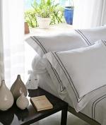 Постельное бельё Deluxe. Двуспальный комплект Двойной сатиновый корд от Catherine Denoual Maison