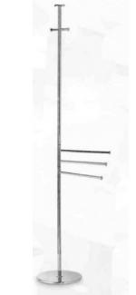 Стойки напольные с бумагодержателем, полотенцедержателем, ёршиком и высокие. Стойка для халатов с 3-мя полотенцедержателями E243.013