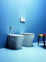 Унитазы Биде. Azzurra Glaze GLZ 500/P bi*1 Биде приставное