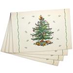 Новый Год. Набор из 4-х подставок под тарелки Botanic Garden Spode Christmas Tree 41523-PL4
