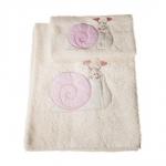Текстиль для детей: полотенца, халаты, постельное бельё и др.. ПОЛОТЕНЦЕ (комплект) УЛИТКА (LUMACA