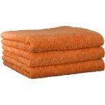 "Хлопковые полотенца.          Полотенце CAWO ""Life Style"" 7007 Мандарин"