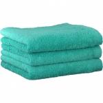 "Хлопковые полотенца.          Полотенце CAWO ""Life Style"" 7007 Бирюза"