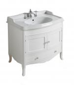 Мебель для ванной комнаты. SIMAS Arcade комплект мебели с закругленным фронтом ARMC90