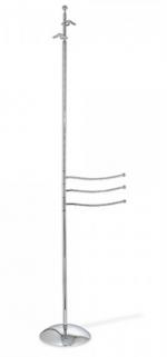 Стойки напольные с бумагодержателем, полотенцедержателем, ёршиком и высокие. Стойка для халатов с 3-мя полотенцедержателями E245.013