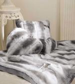 Пледы Покрывала Deluxe. Плед Cincilla (95х140) и две декоративные подушечки от Blumarine Серый  art.61116-13