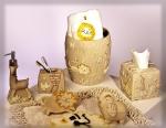 Аксессуары для ванной настольные. Animal Crackers керамические настольные аксессуары для ванной