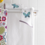 Текстиль для детей: полотенца, халаты, постельное бельё и др.. Полотенце для рук мини Butterflies BEM-141-BUT-W