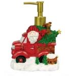 Новый Год. Дозатор для жидкого мыла Truckin With Santa