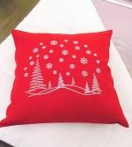 Новый Год. Подушка Рождественский Пейзаж (50х50) от Catherine Denoual Maison