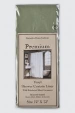 Шторки для душа и ванны текстильные. Защитная шторка Premium 4 Gauge Sage хаки