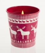 Новый Год. Горшочек «Рождество» Красная смородина и клюква от Stone Glow Арт.3568