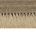 Пледы Покрывала Deluxe. Плед Eros (100% кашемир) Бежевый в коричневую полоску 140х180см. от Co.Bi