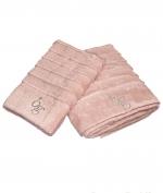 Полотенца хлопковые Deluxe. Комплект полотенец для лица и рук Natasha Розовый от Blugirl art.78717-02
