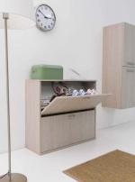Итальянские постирочные раковины Мебель и оборудование для постирочной комнаты. Шкаф для обуви Colavene двойной Дуб Rovere
