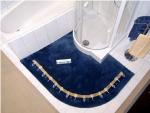 Коврики для ванной комнаты на заказ из Германии Индивидуального дизайна и размера. Wunsch Nicol Коврик для ванной на заказ из Германии для душевых кабин