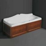 Ванны. Simas Vasche da bagno VAT17 Ванна прямоугольная 170x70 см с панелью, цвет noce