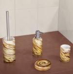 Аксессуары для ванной настольные. Layla Nicol Аксессуары для ванной стеклянные Gelb