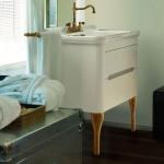 Мебель для ванной комнаты. Kerasan Waldorf База подвесная под раковину 80см, цвет матовый белый/бронза