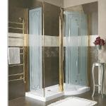 Душевые кабины Створки стеклянные Шторки для душа. Lineatre Louvre 99604 Душевая уголок 150х90хh209 см